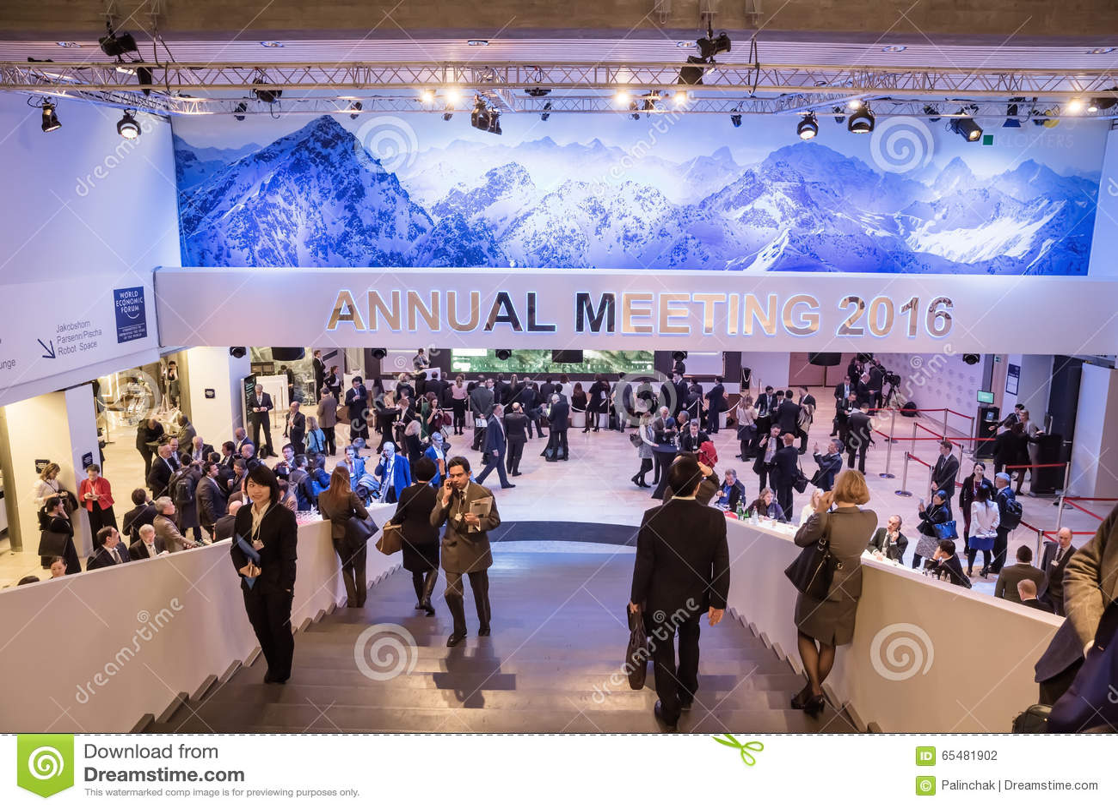 Weltwirtschaftsforum in Davos (die Schweiz)