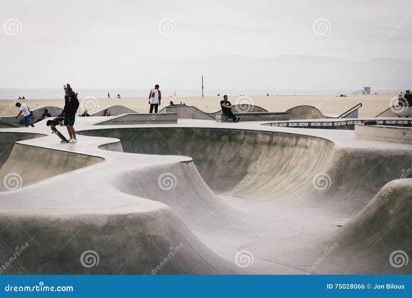 Wenecja łyżwy park w Wenecja plaży, Los Angeles, Kalifornia