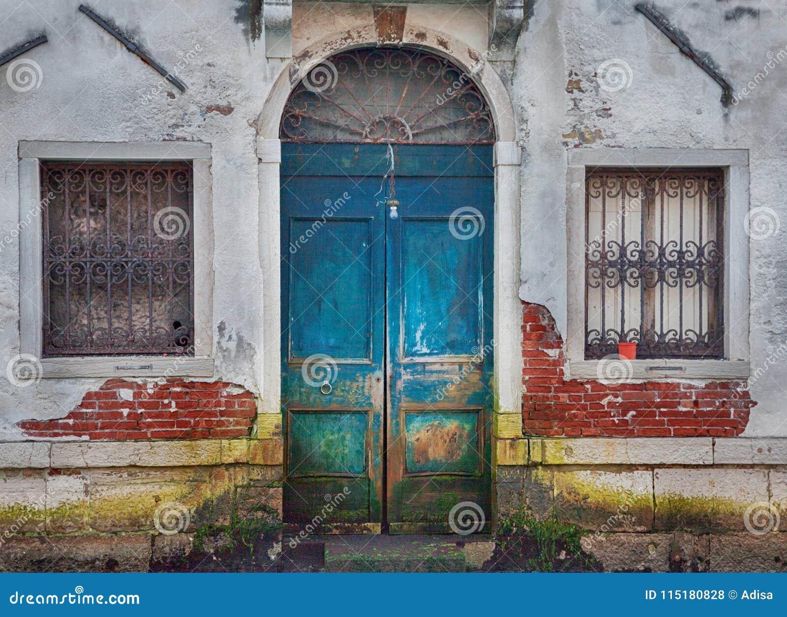Wenecja drewniany drzwi