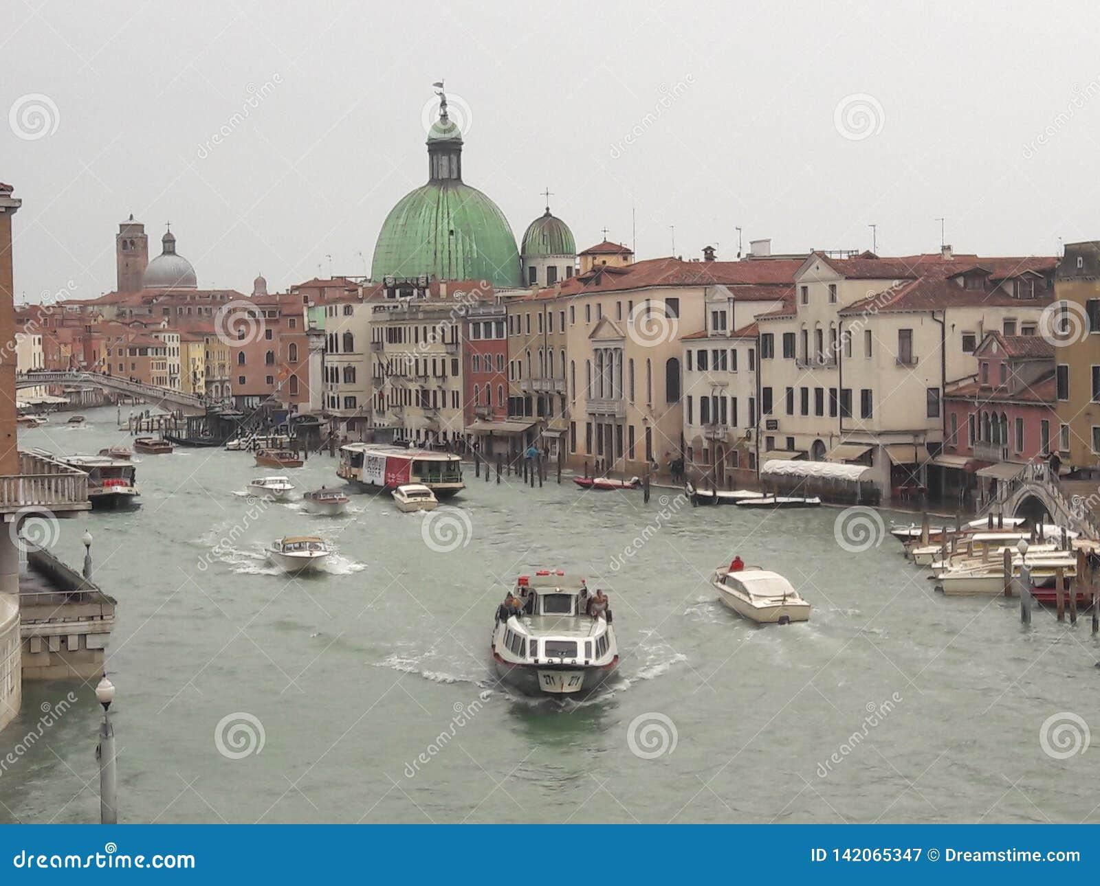 Wenecja Włochy dniem