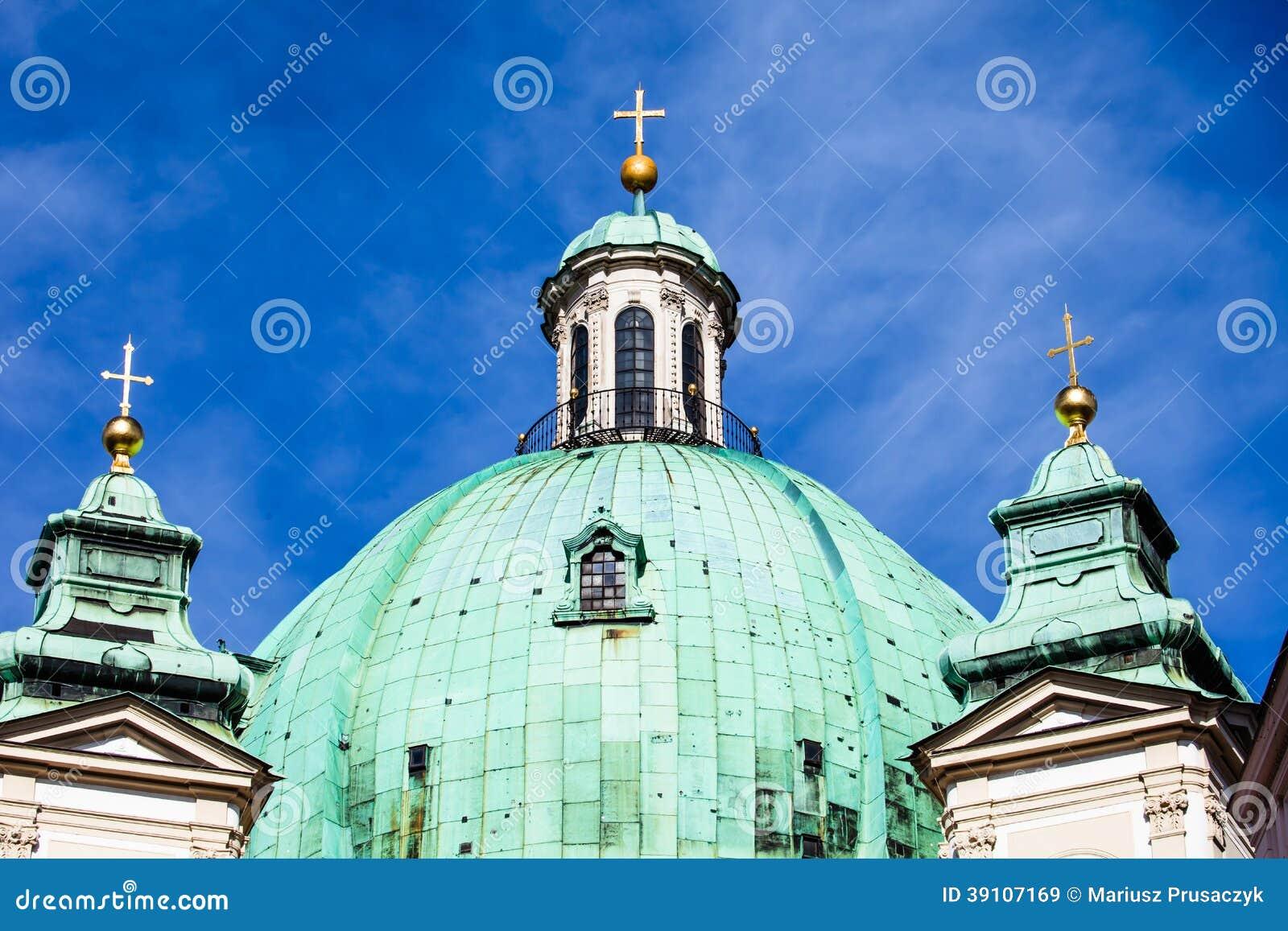Wenen, Oostenrijk - beroemde Peterskirche (de Kerk van Heilige Peter)
