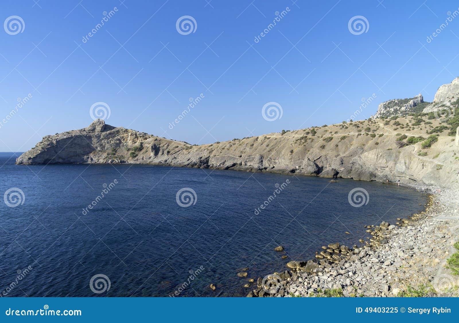 Download Wenig Bucht in Krim stockbild. Bild von landschaft, felsspitze - 49403225