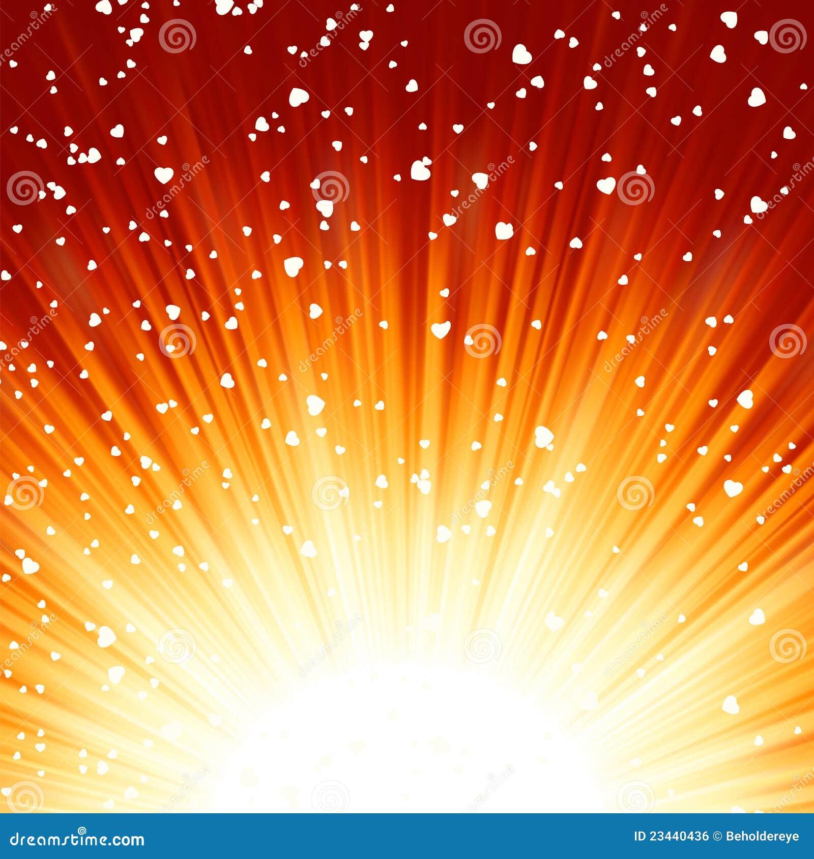 Wenig Innere, die auf Strahlen der Leuchte schwimmen. ENV 8