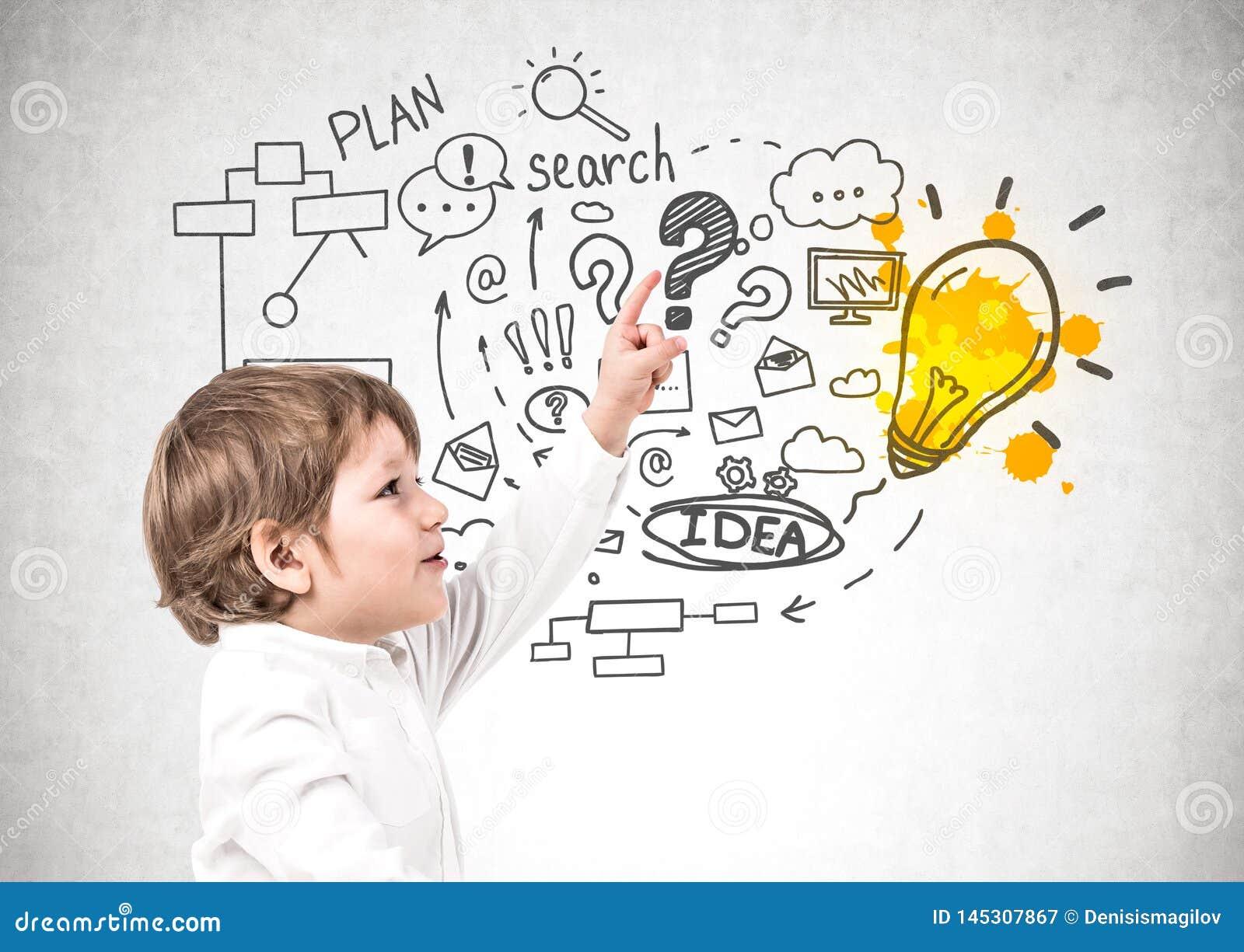 Wenig Junge und sein Unternehmensplan