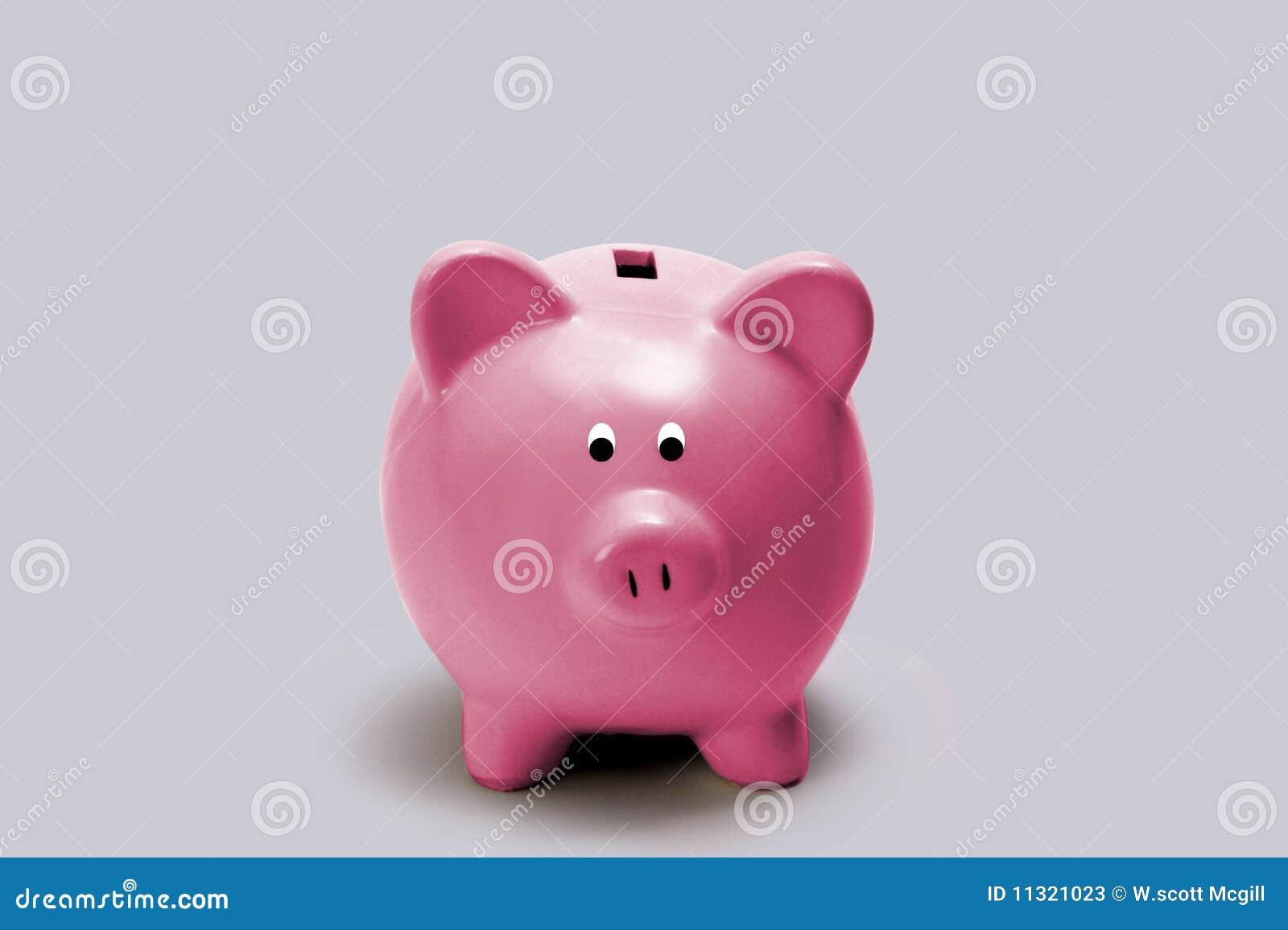 Wenig rosafarbene piggy Querneigung