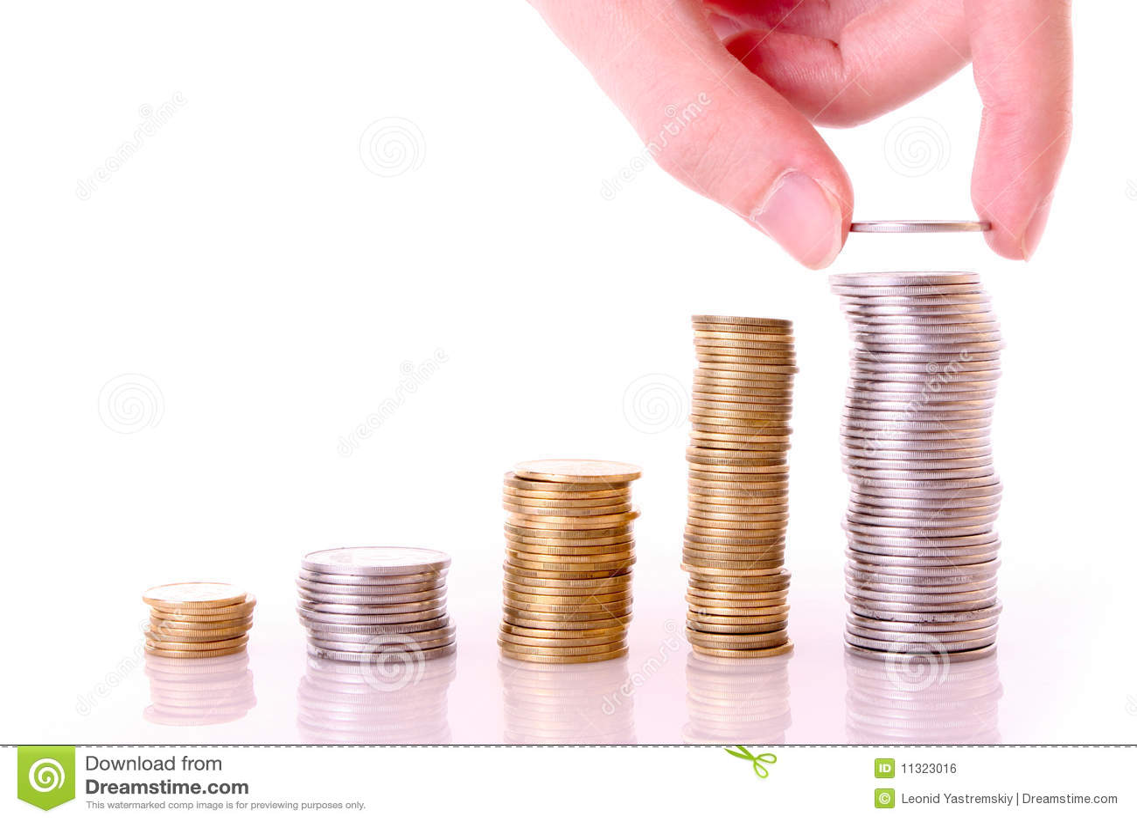 Wenige Münzenspalten