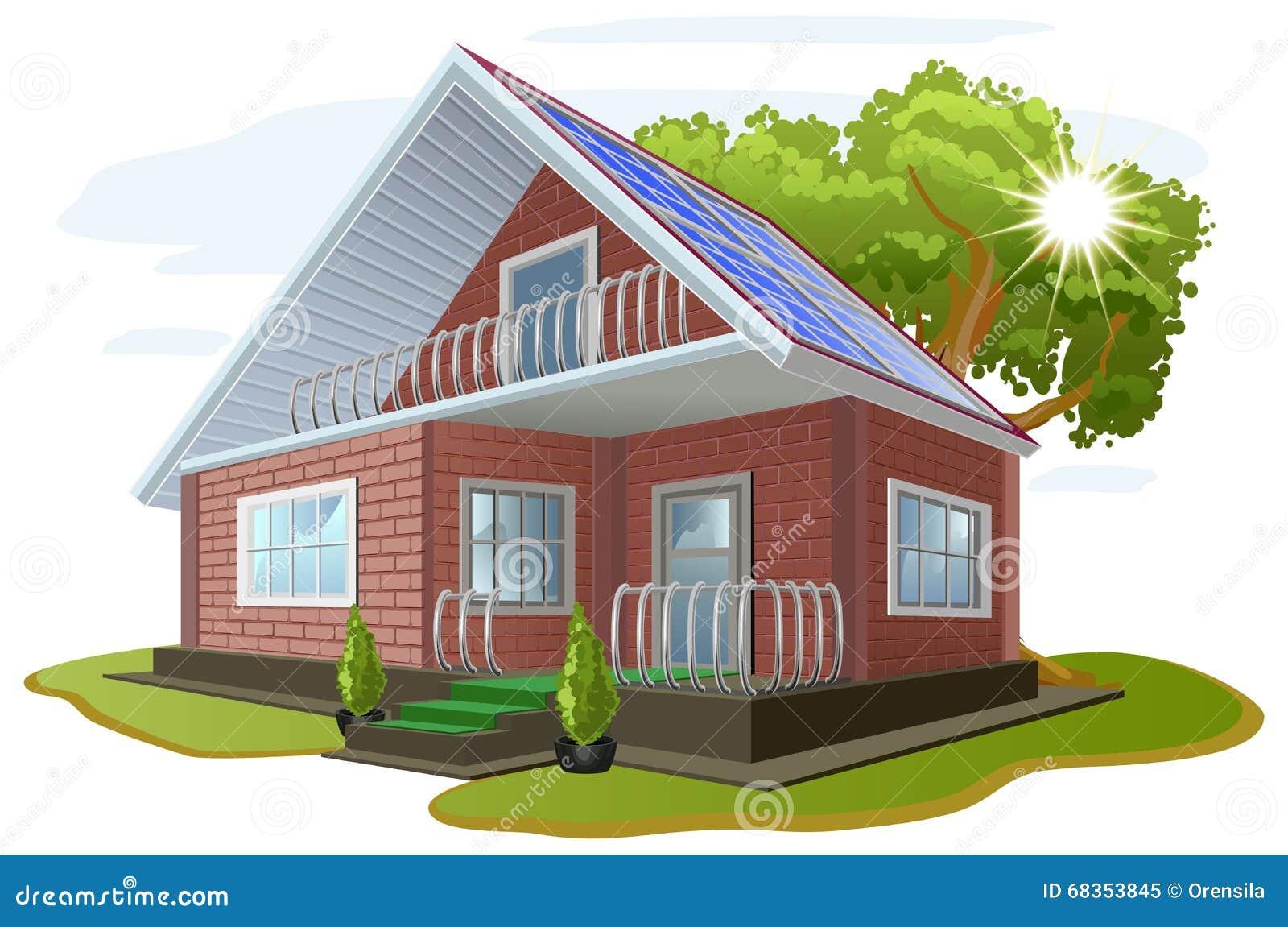 Wenn sie gut zu unserer Umgebung geht, geht sie auch gut zu uns Interessieren für Umwelt Haus mit Sonnenkollektoren Alternative E