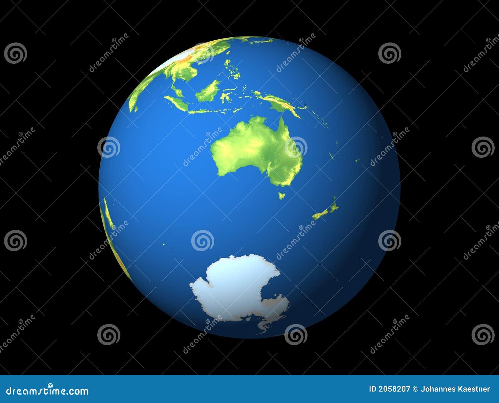 Wereld, Australië, Antarctica