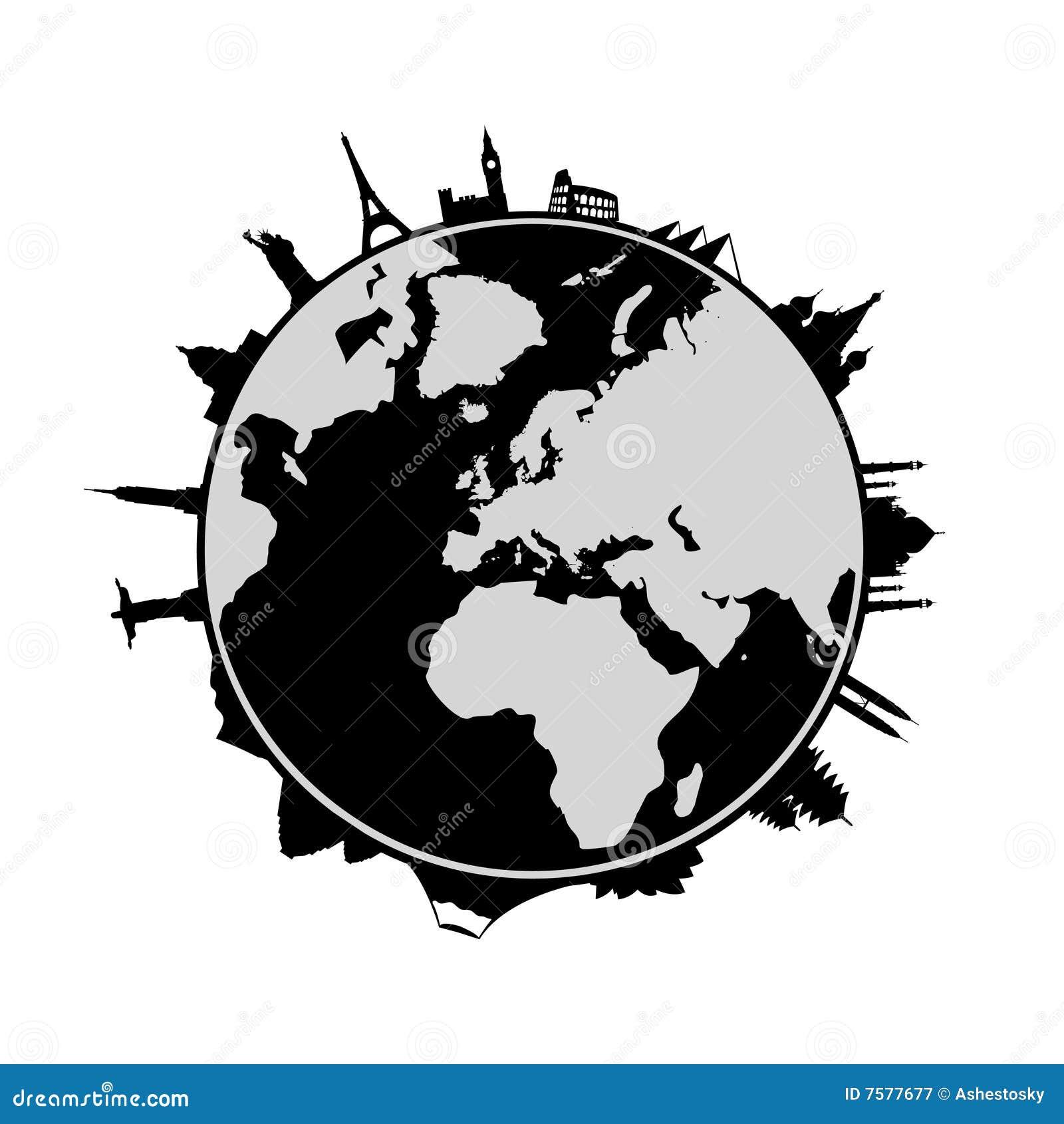 Wereld en oriëntatiepunten rond