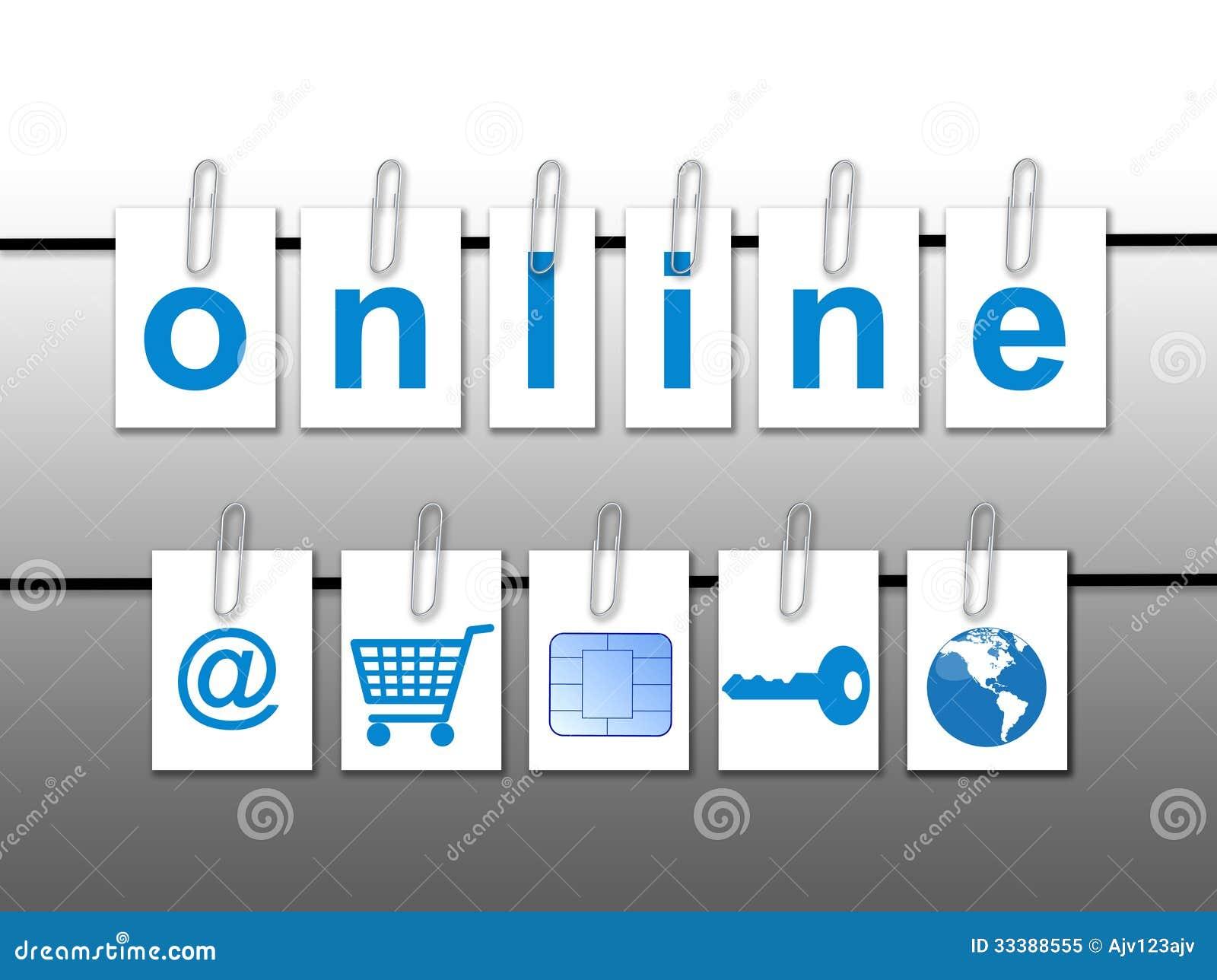 Wereld online concept