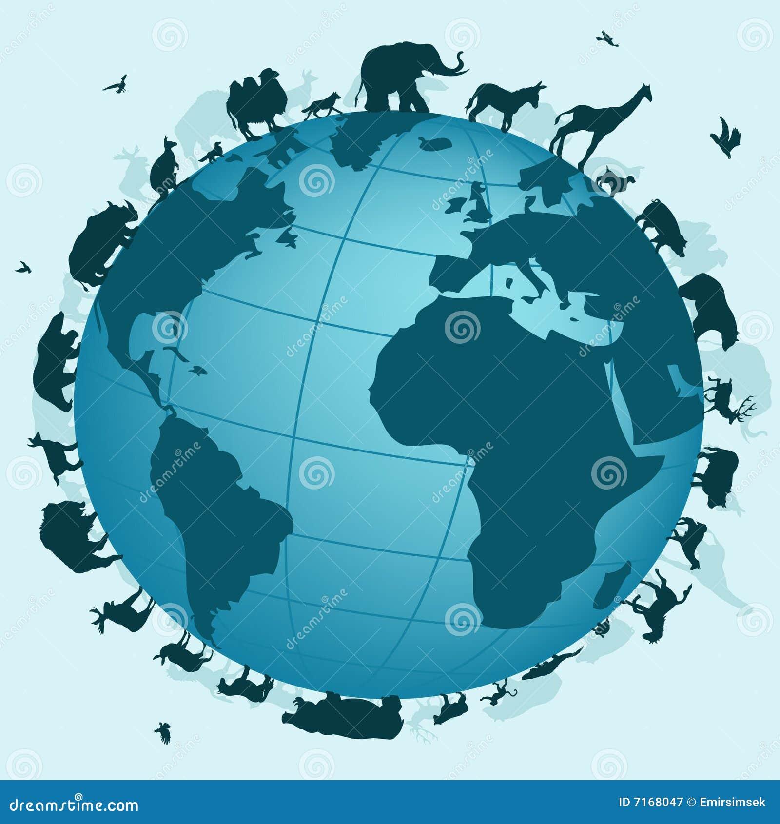 Wereld van dieren royalty vrije stock fotografie afbeelding 7168047 - Vloerlamp van de wereld ...