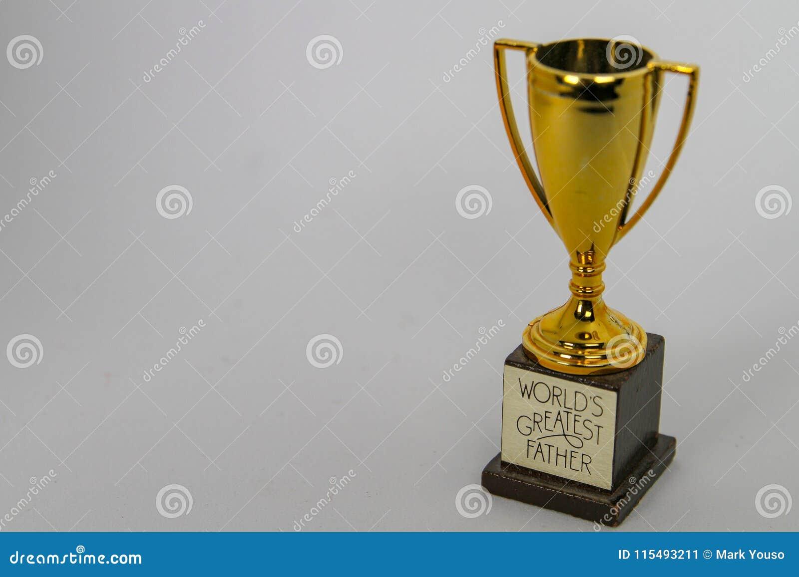 Werelden Grootste Vader Trophy met ruimte voor Bericht