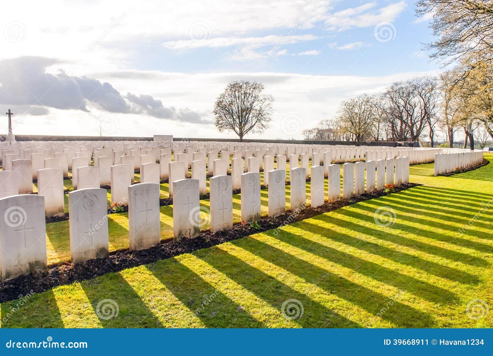 Wereldoorlog één Vlaanderen België van militairCemetery