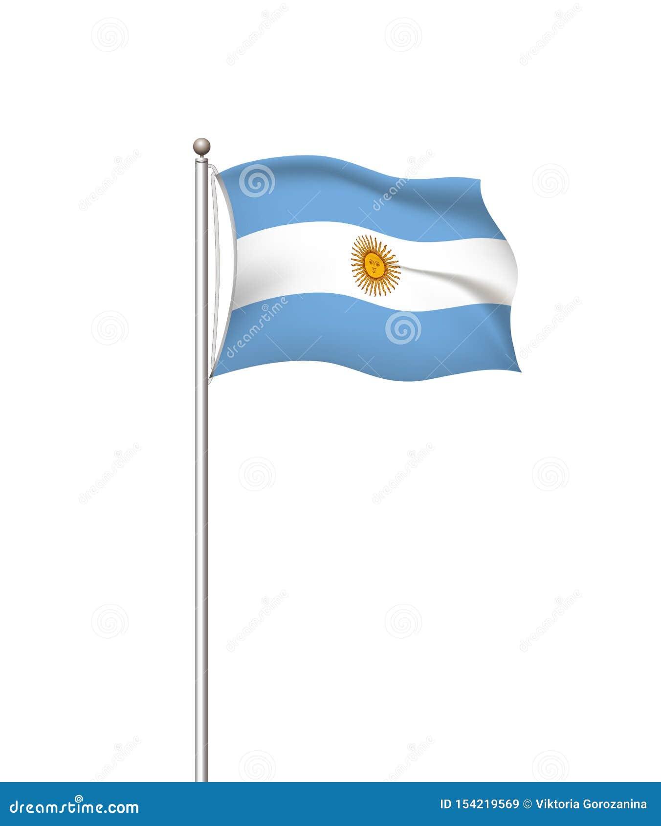 Wereldvlaggen Nationale de vlag post transparante achtergrond van het land argentini? Vector illustratie