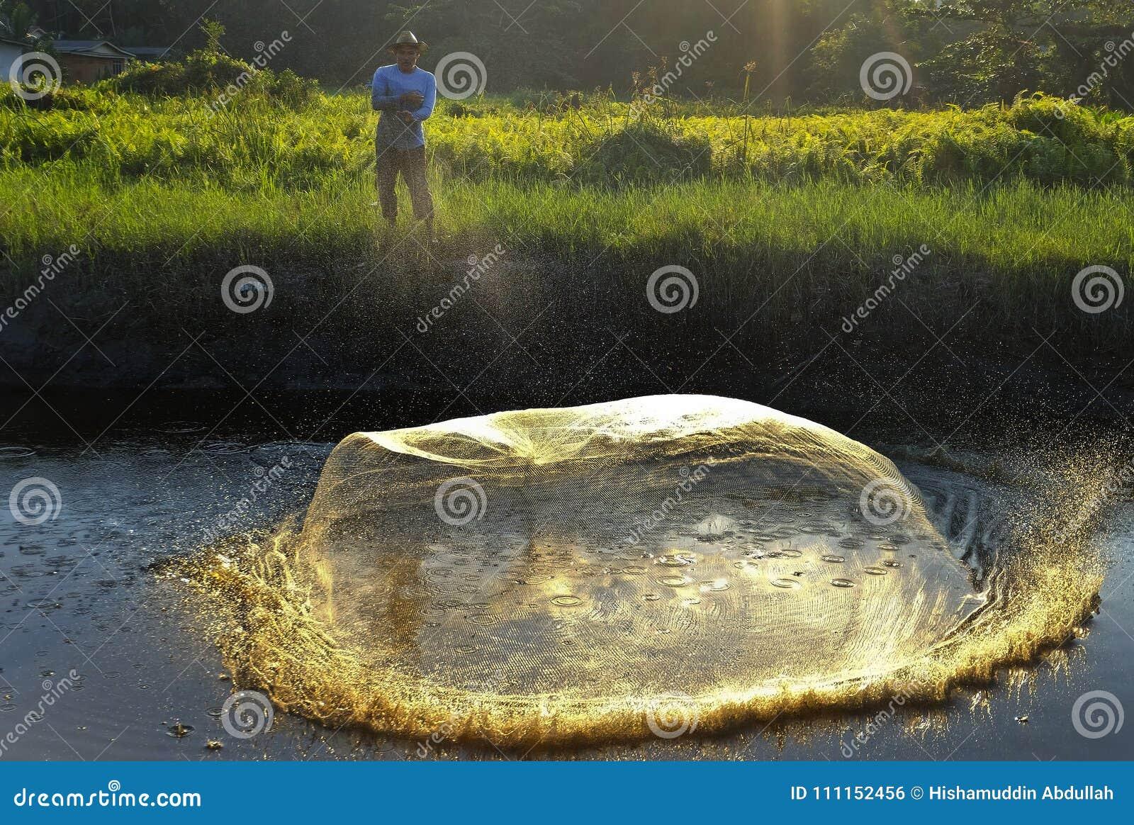 Werfendes fishin Netz