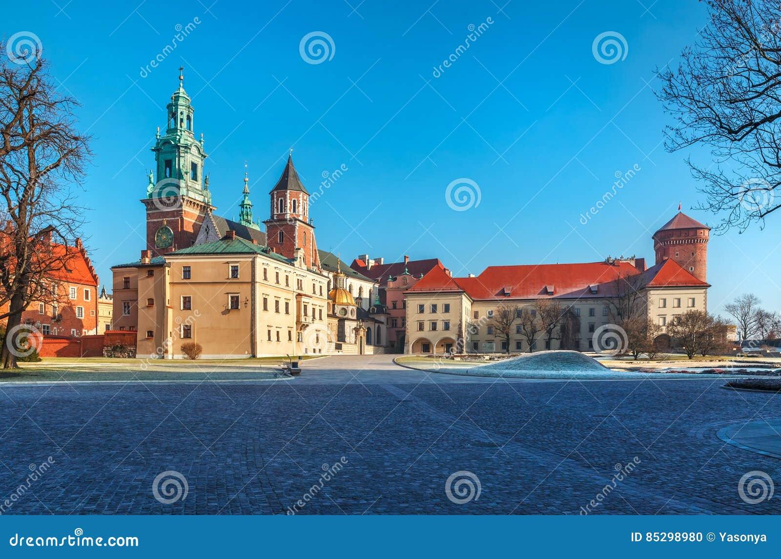 Werfvierkant van Wawel-kasteel in Krakau