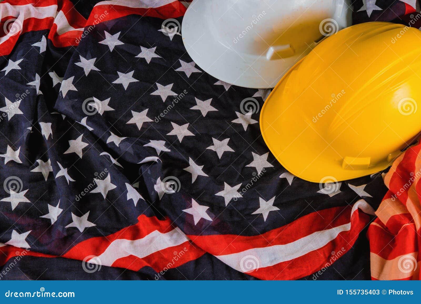 Werktag ist ein Bundesfeiertag von Draufsicht Vereinigter Staaten Amerika mit Kopienraum für Gebrauchsentwurf