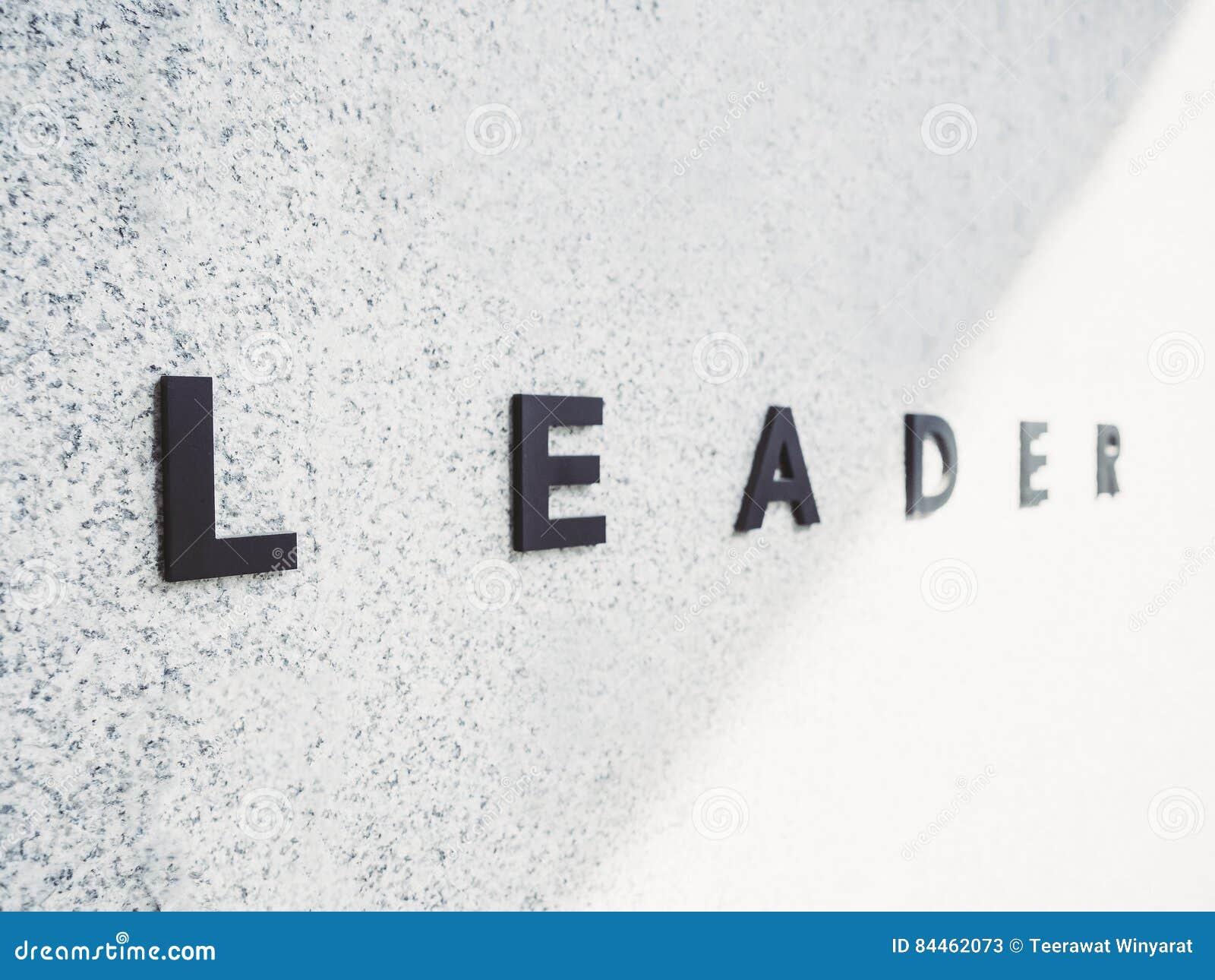 Werktype van leidersTeam op conceptuele Zaken Als achtergrond