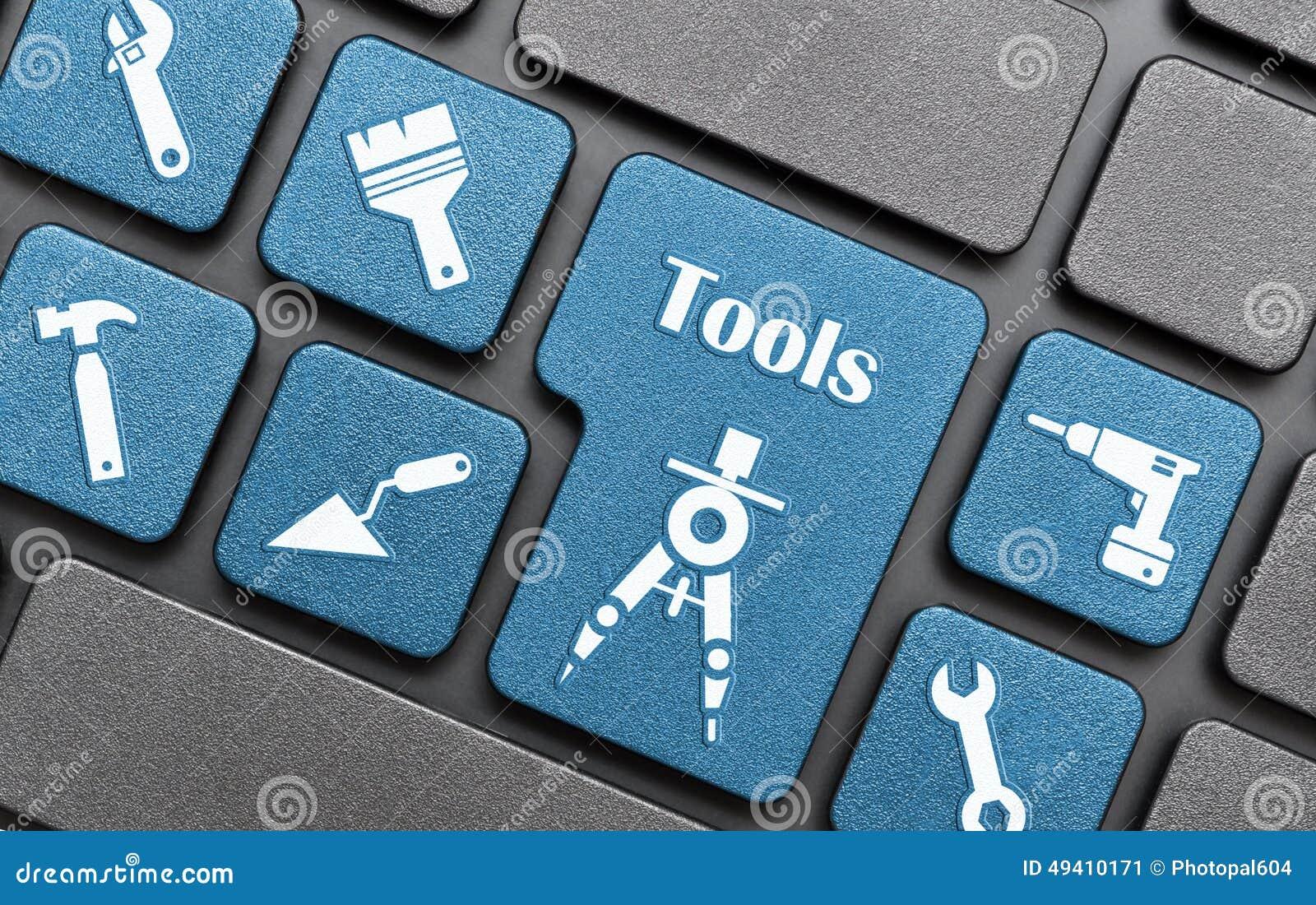 Download Werkzeuge Befestigen Auf Tastatur Stock Abbildung - Illustration von weiß, zugriff: 49410171