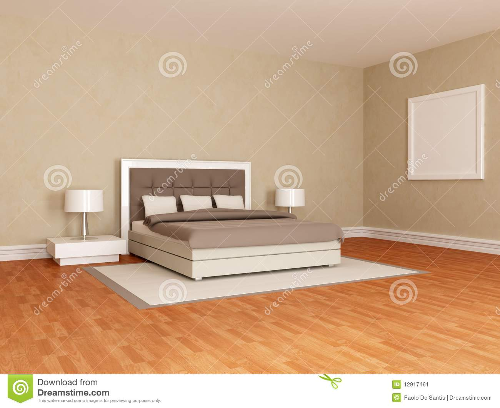 Braunes Schlafzimmer | Wesentliches Braunes Schlafzimmer Stock Abbildung Illustration Von