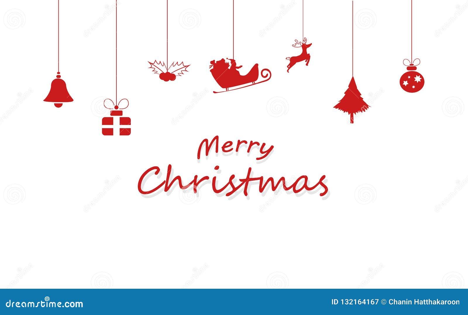 Wesoło boże narodzenia, dekoracja, Święty Mikołaj, renifer, prezent, piłka