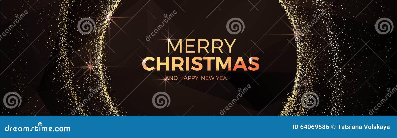 Wesoło boże narodzenia i szczęśliwej nowy rok fantazi xmas złocisty balowy niski poli- trójbok projektują
