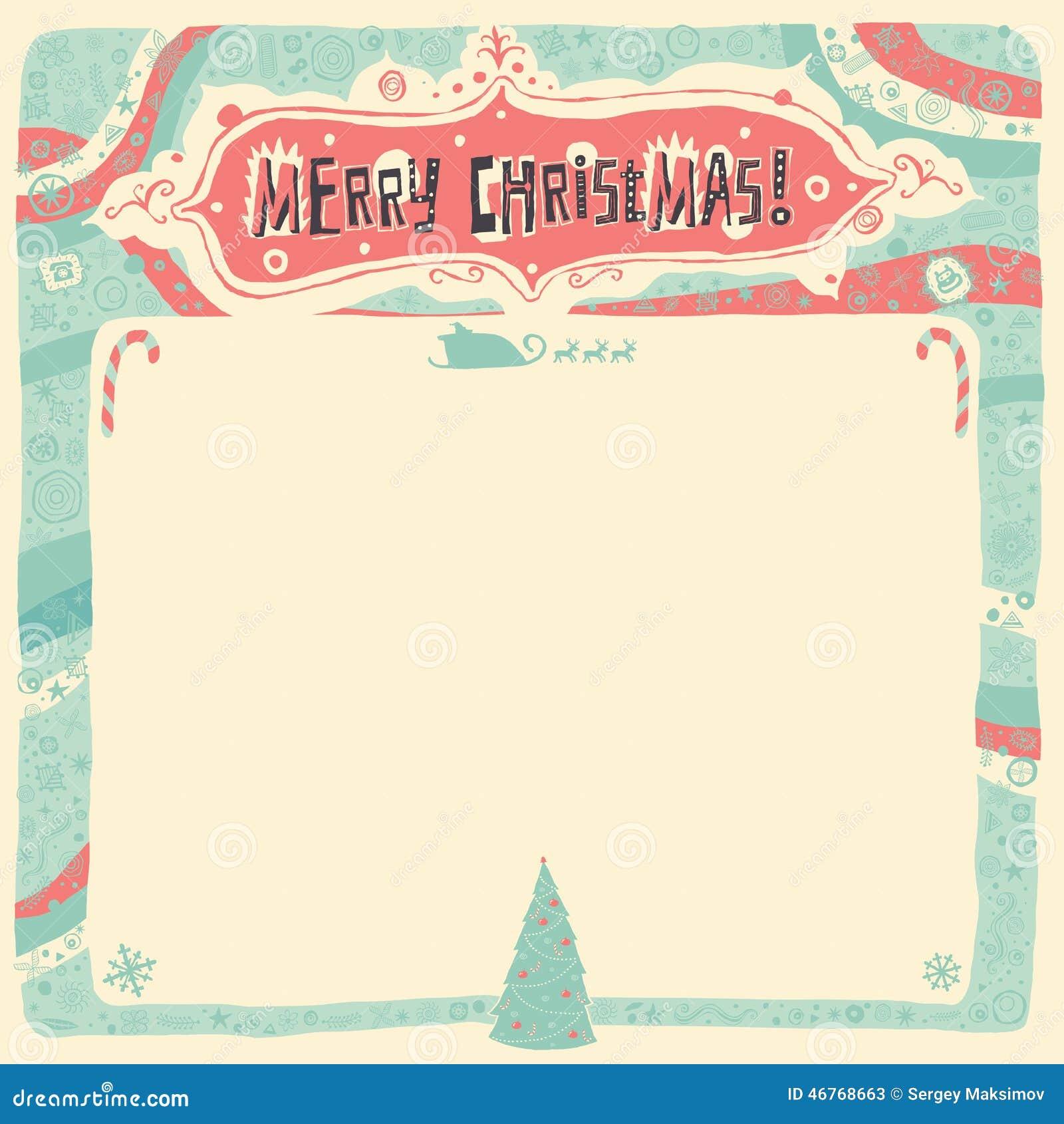Wesoło boże narodzenia kartka z pozdrowieniami, zaproszenie, plakat lub tło,