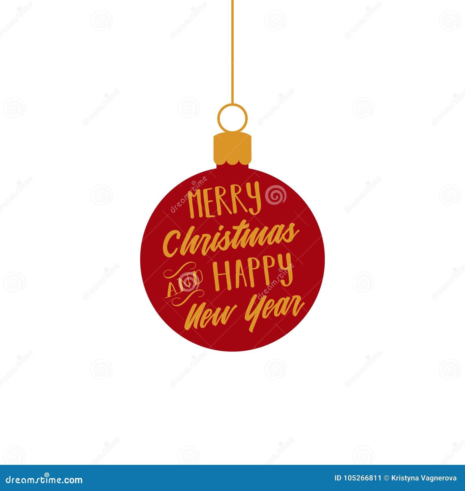 Wesoło boże narodzenia, Szczęśliwy nowy rok, czerwień i złoto ornamentu wektorowej grafiki balowa ilustracja,