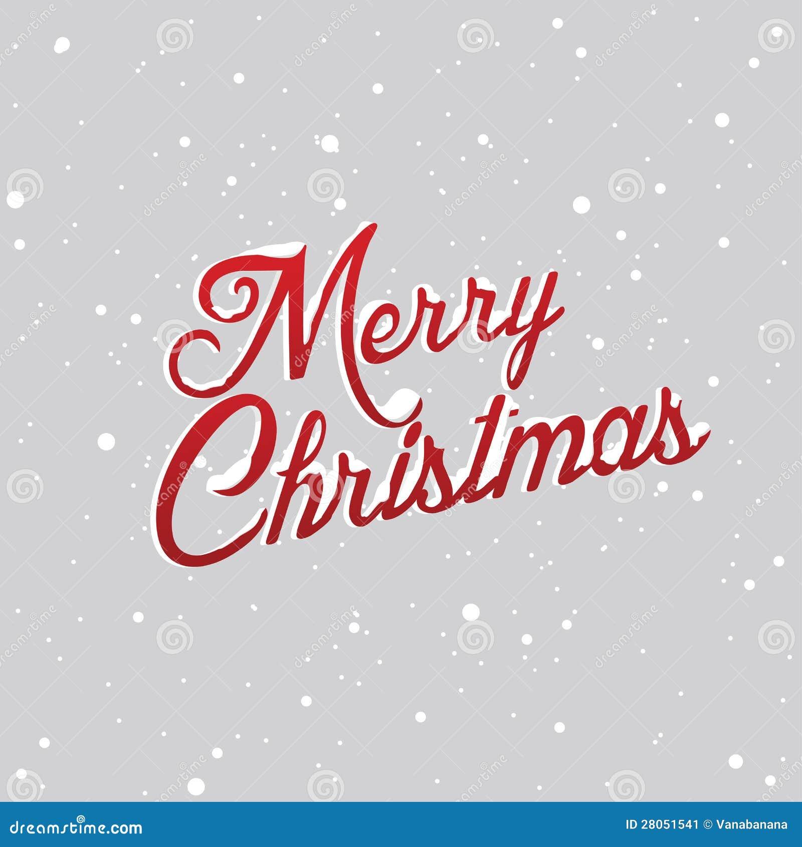 Wesoło Bożych Narodzeń listy zakrywający z śniegiem