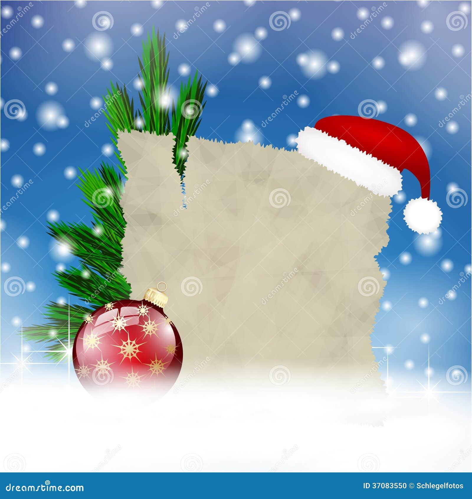 Download Wesoło Kartka Bożonarodzeniowa W śniegu Ilustracji - Ilustracja złożonej z noel, rama: 37083550