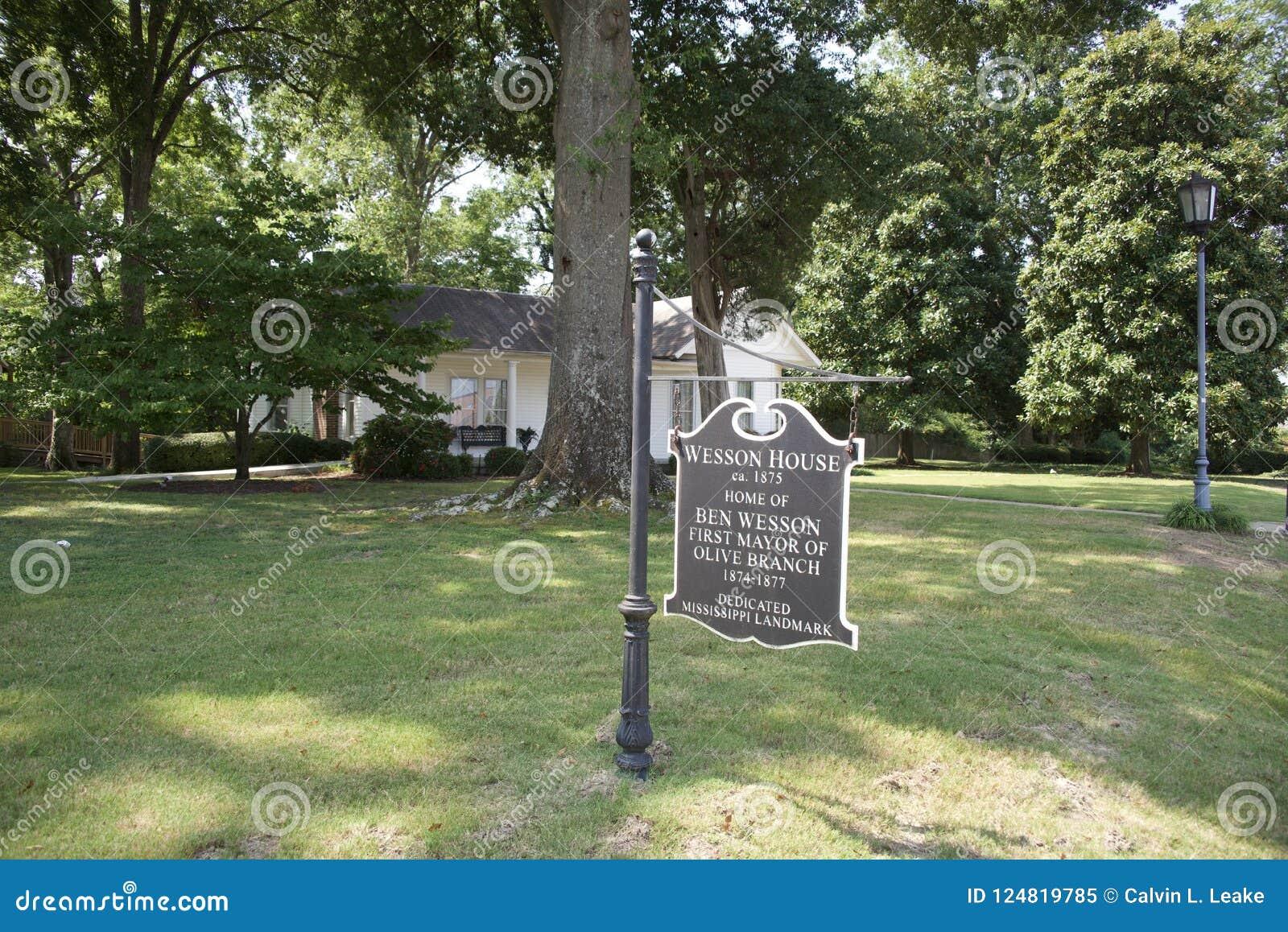 Wesson domu znaka gałązka oliwna, Mississippi