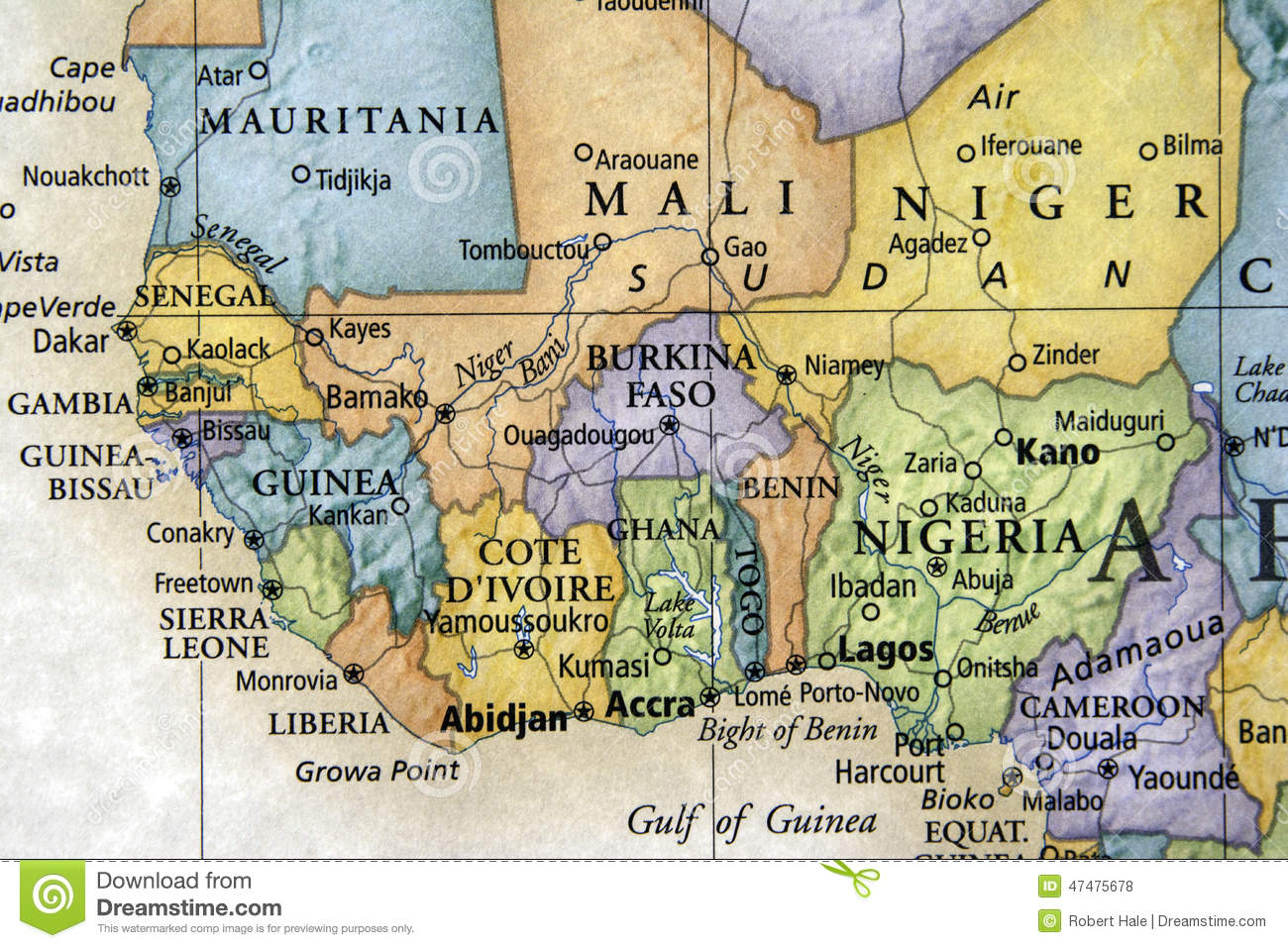 Map Of Africa And Surrounding Countries.West Africa Stock Photo Image Of Sick Death Guinea 47475678