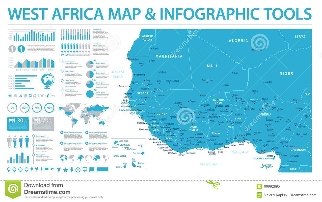 West africa map info graphic vector illustration stock download west africa map info graphic vector illustration stock illustration illustration of illustration ccuart Images