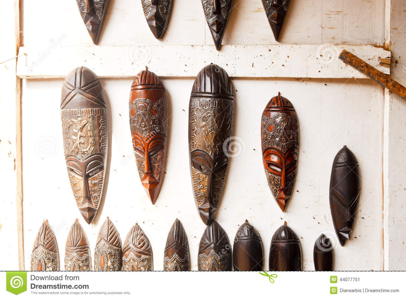 West African Art Display stock image  Image of detail - 44077751