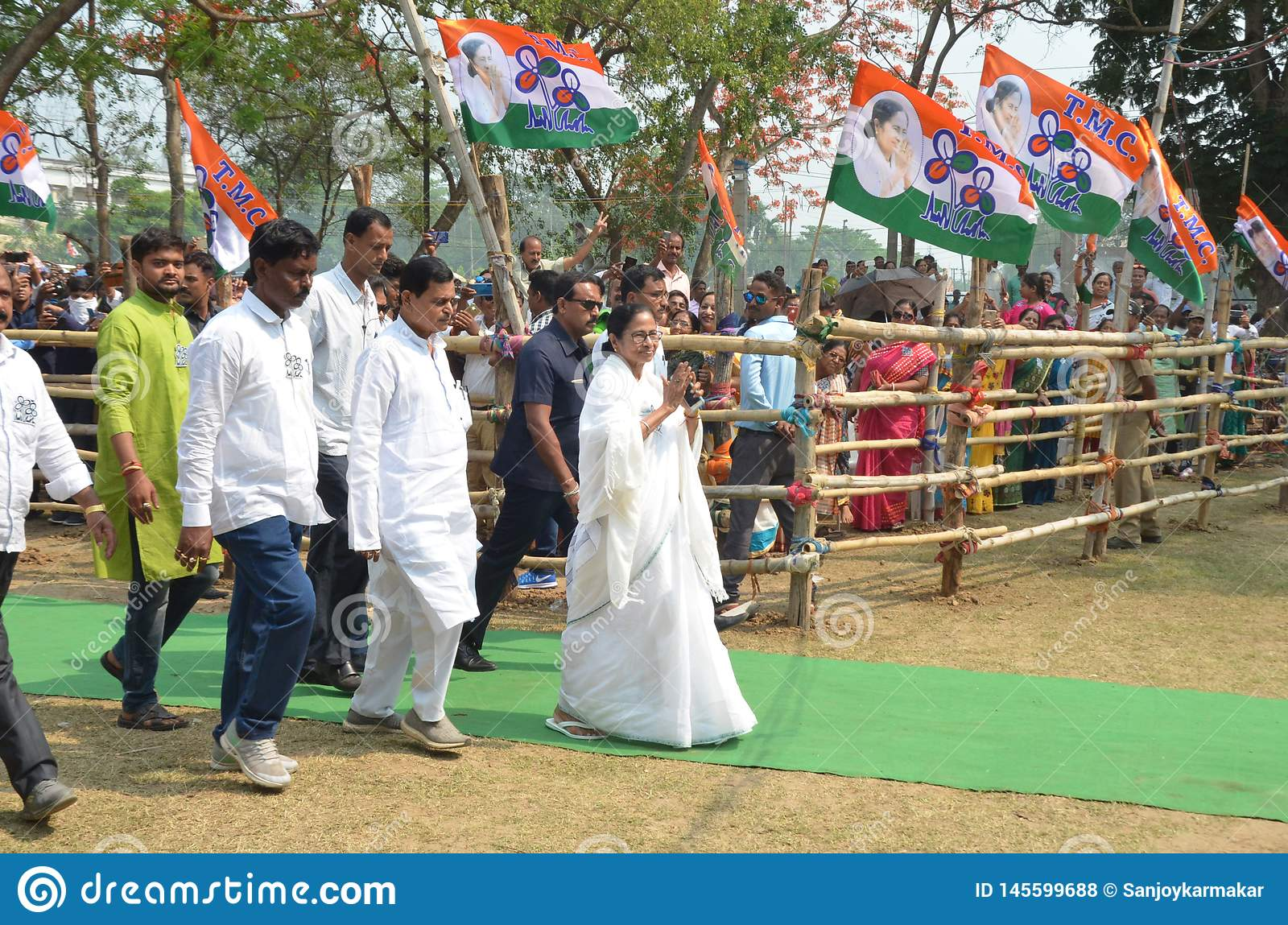 West Bengal Chief Minister Mamata Banerjee`s Election Rally at Burdwan