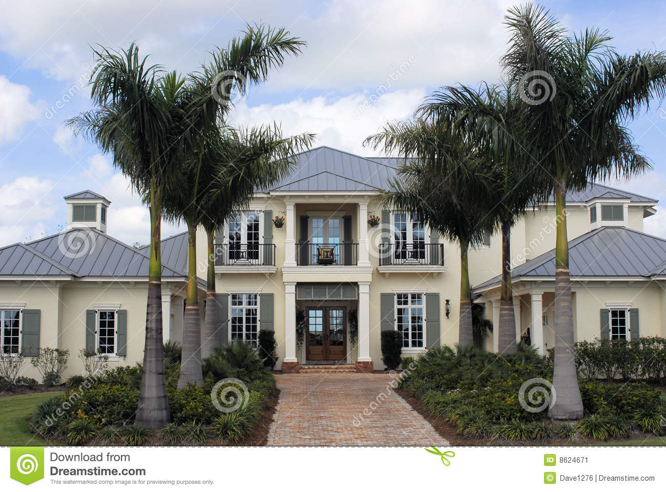 west indies style luxury home stock image image 8624671