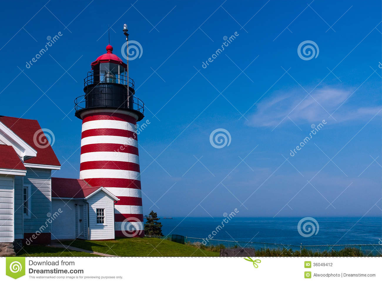 West quoddy head lighthouse stock photography image for What state has the most lighthouses