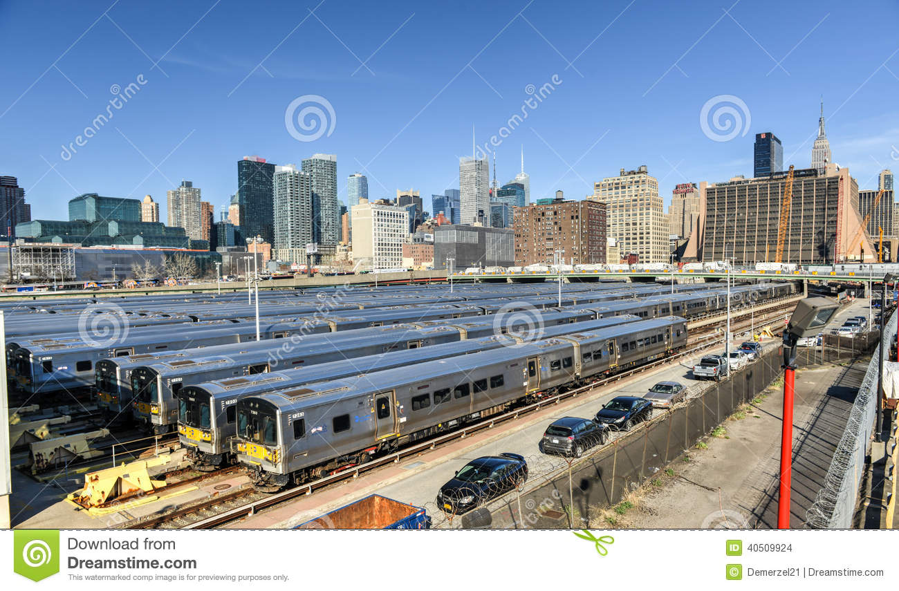 Long Island City Train Yard