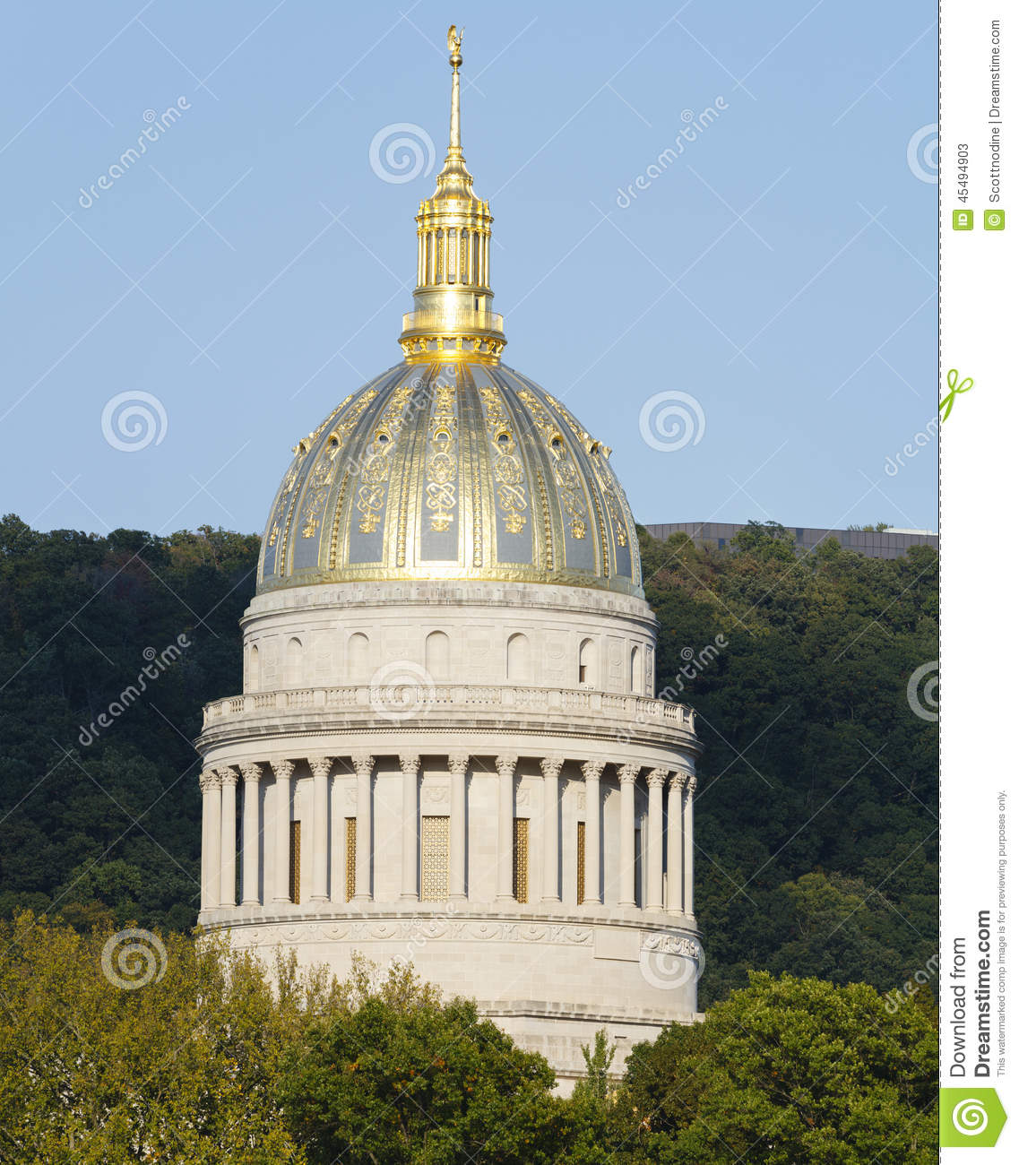 West-Virginia Golden Ornate State Capital-Haube