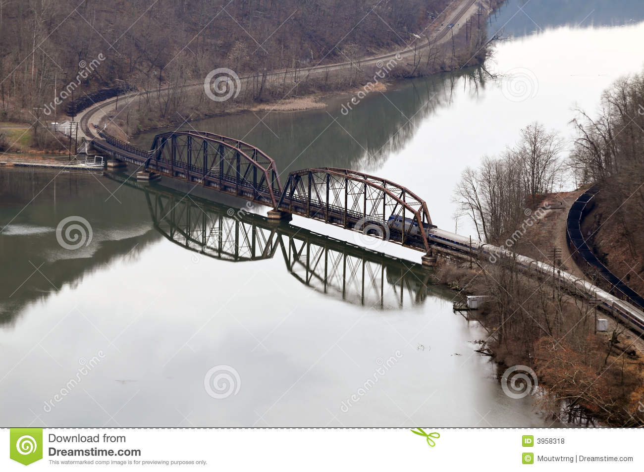 West Virginia Railroad Bridge Royalty Free Stock Photos