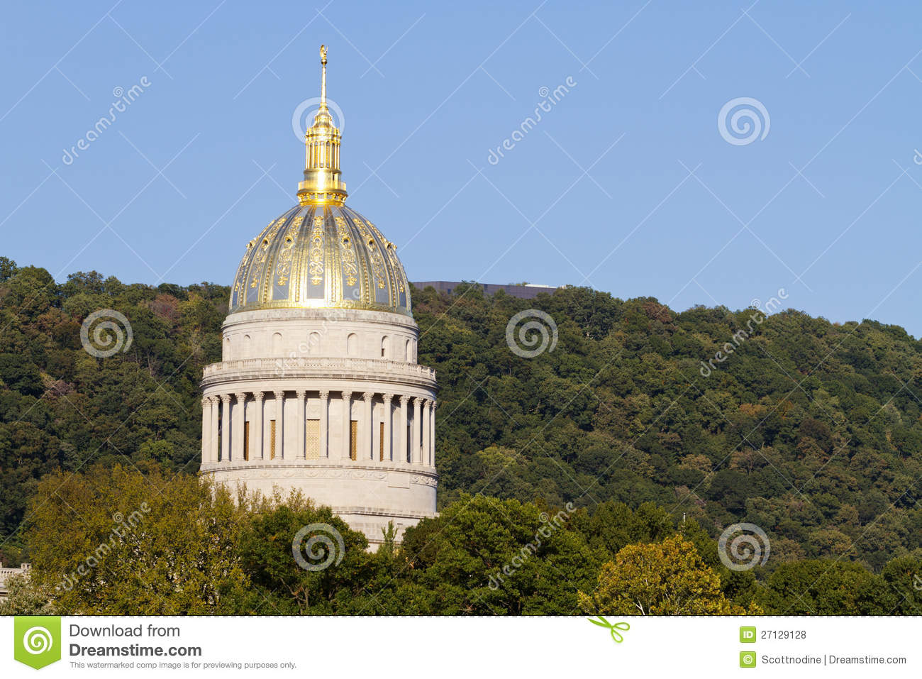 West Virginia State Capital Dome Stock Photo Image 27129128