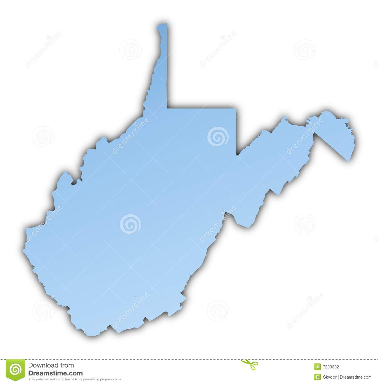 West Virginia(USA) map stock illustration. Illustration of ...
