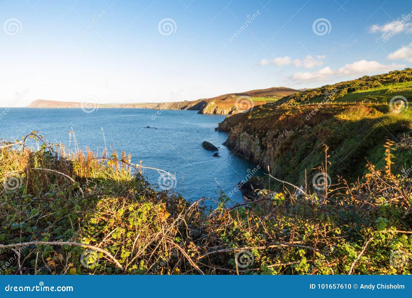 Wales West Coast Near Fishguard Stock Photo Image