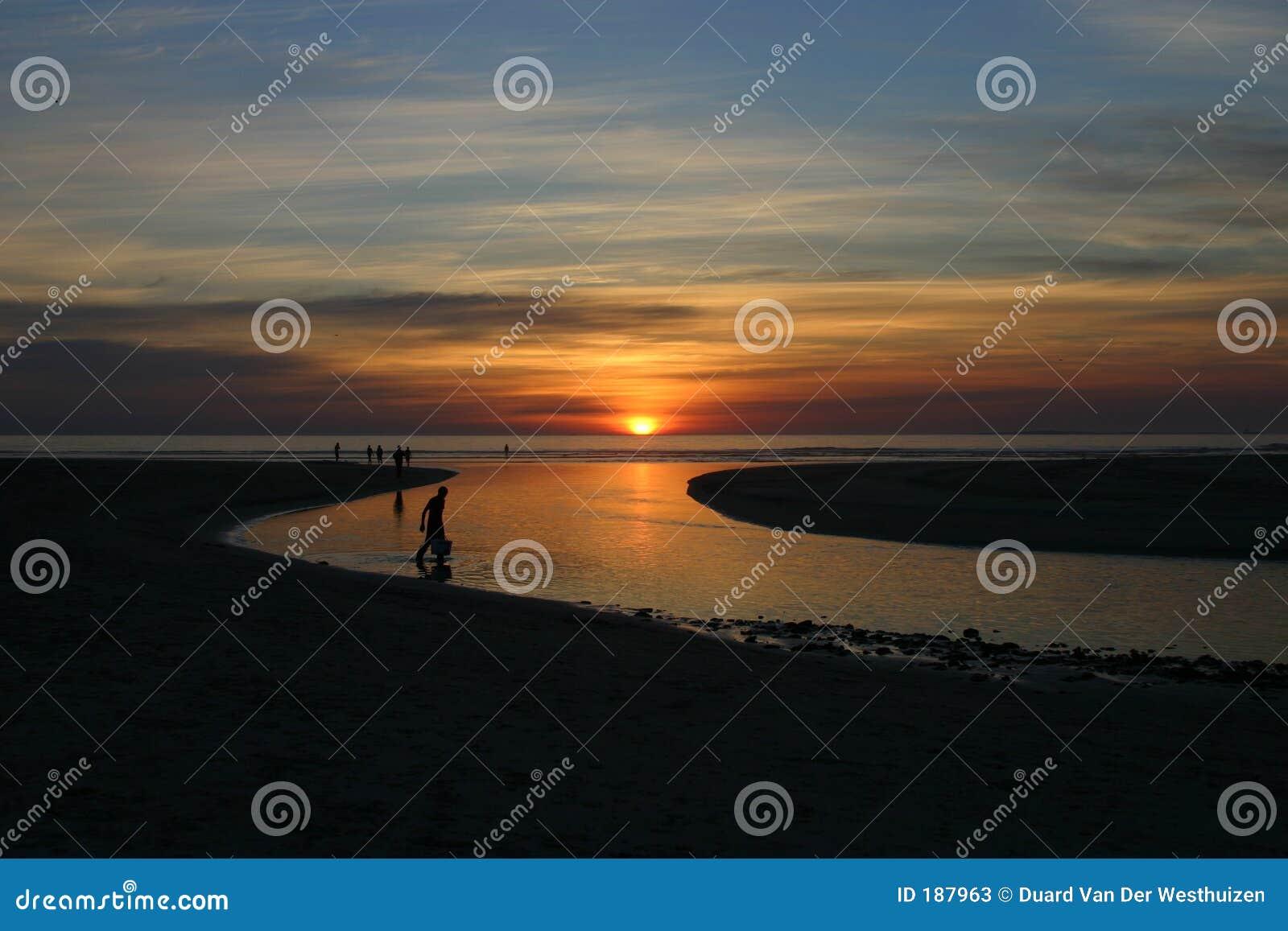 Westcoat de la puesta del sol