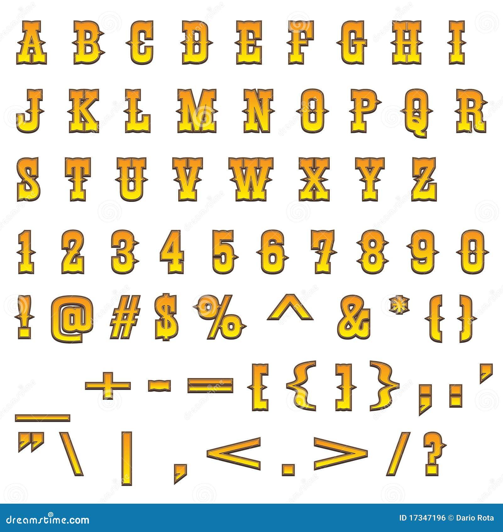 Western Letters Alphabet