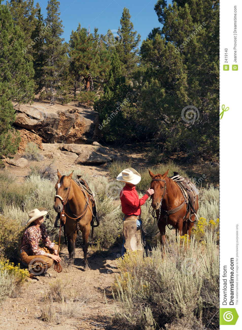 Western Horse Riding Clipart Western Couple Trail R...