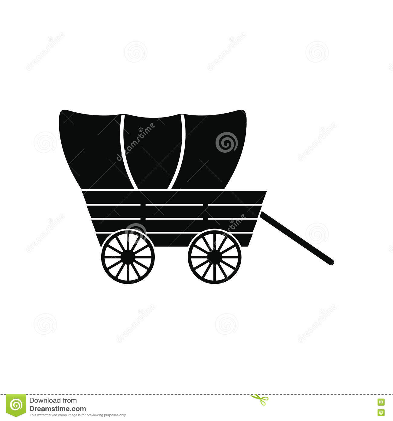 Wagon,covered,wild - Caravan Clipart Black And White - 500x516 PNG Download  - PNGkit
