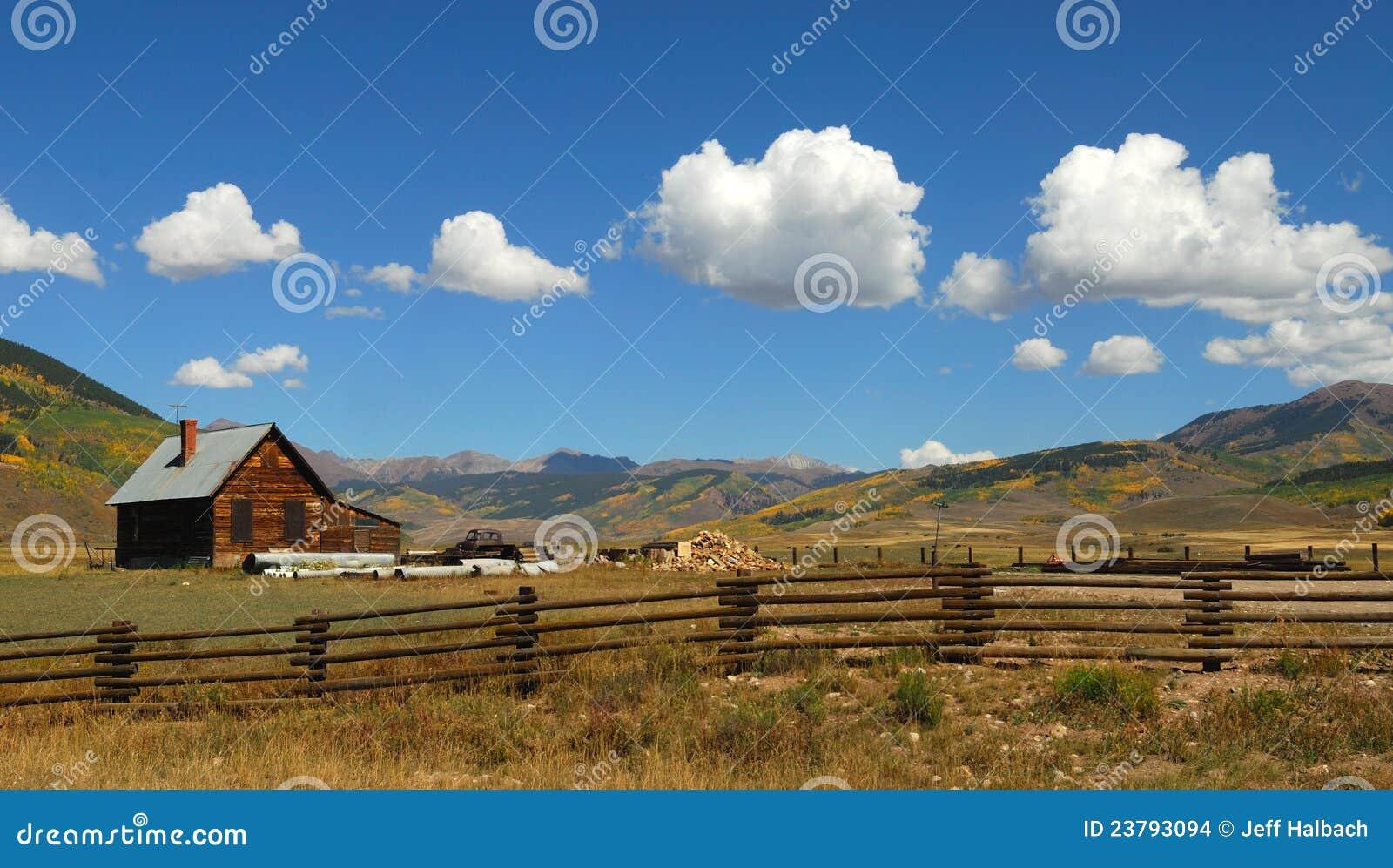Western Log Cabin Stock Images Image 23793094