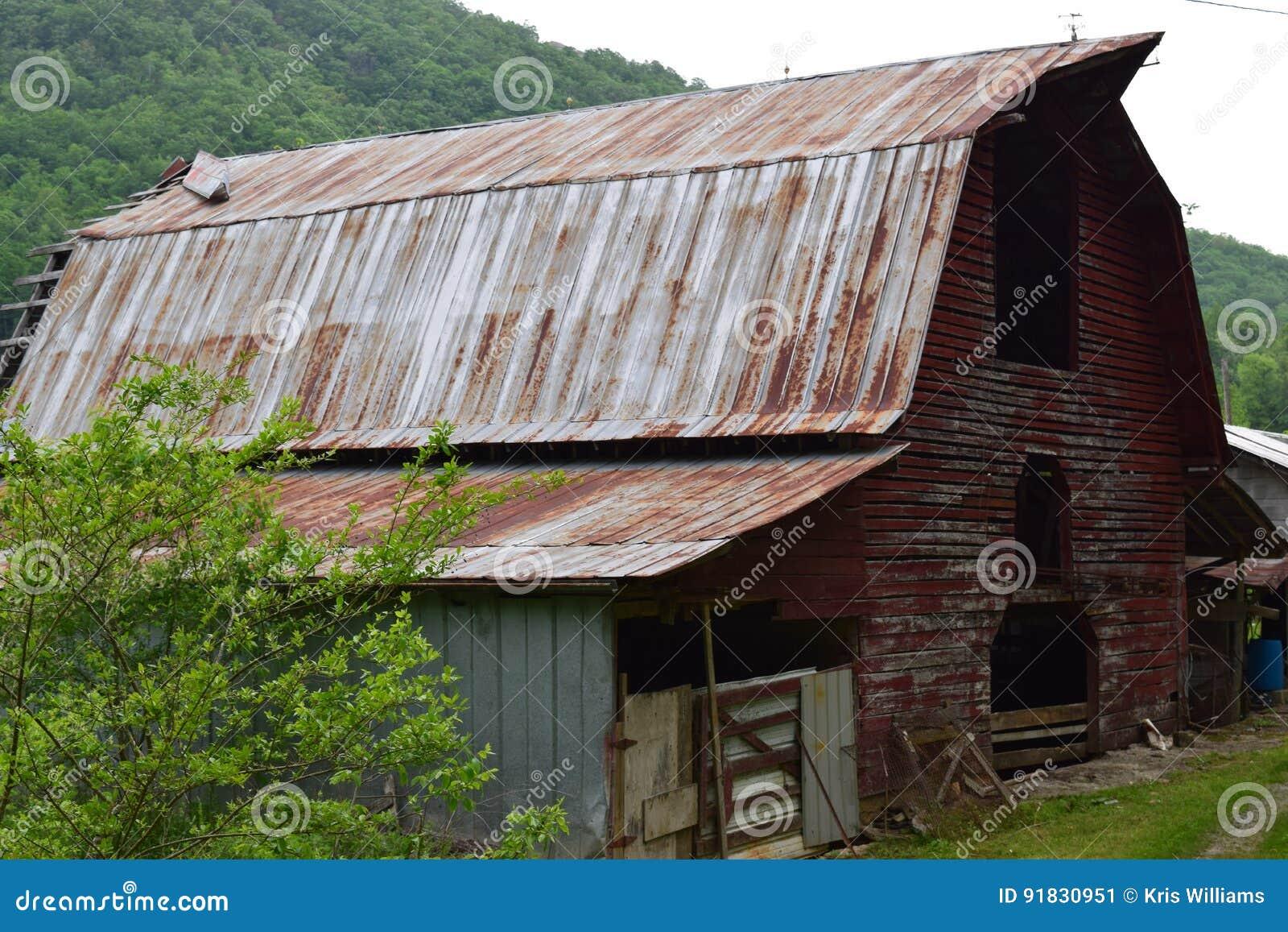 Western NC mountain old rural farm barn
