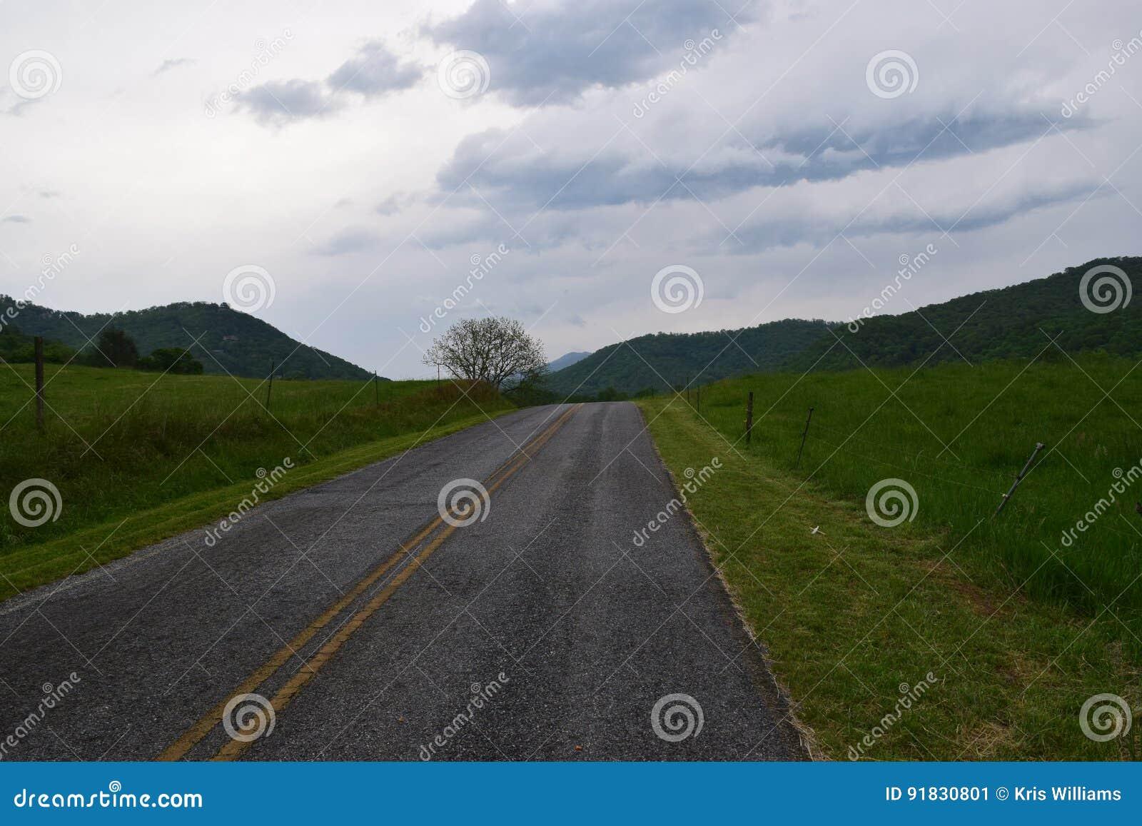 Western NC mountain rural road